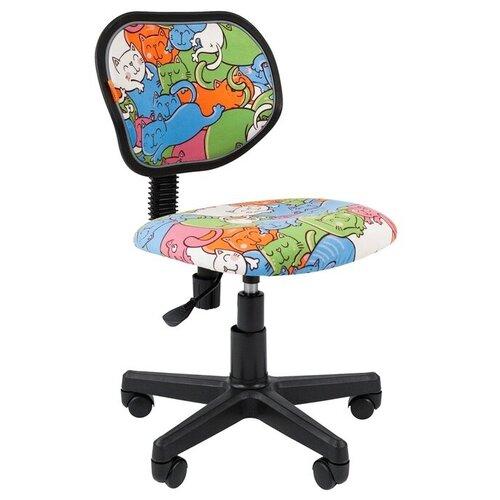 Фото - Компьютерное кресло Chairman Kids 106 детское, обивка: текстиль, цвет: котики компьютерное кресло chairman kids 101 детское обивка текстиль цвет монстры
