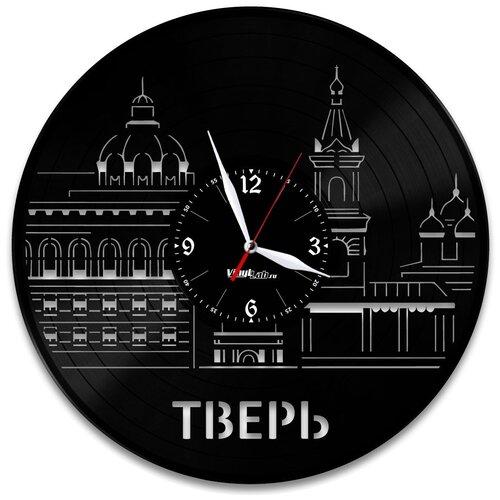 Часы из виниловой пластинки (c) VinylLab Тверь