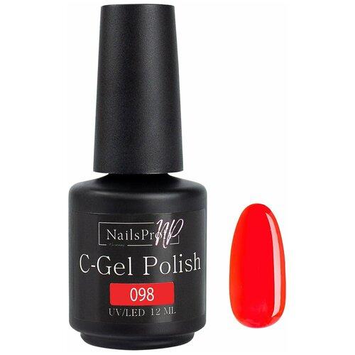 Купить Гель-лак для ногтей NailsProfi C-Gel Polish, 12 мл, 098