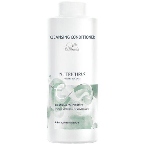 Фото - Wella Professionals бальзам NutriCurls Waves & Curls Cleansing Conditioner Очищающий для вьющихся и кудрявых волос, 1000 мл wella nutricurls micellar shampoo for curls мицеллярный шампунь для кудрявых волос 1000 мл