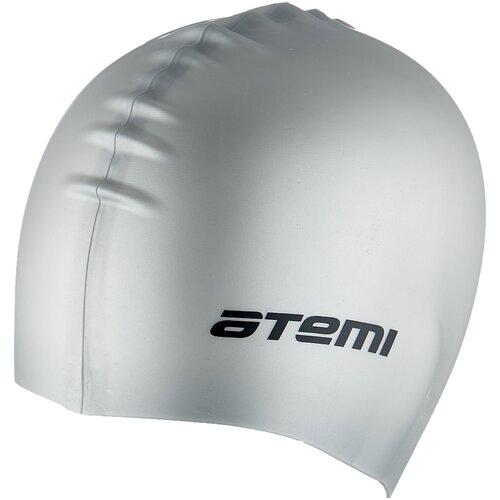Фото - Шапочка для плавания ATEMI SC109, серебро аксессуары для плавания atemi шапочка для плавания графика psc422