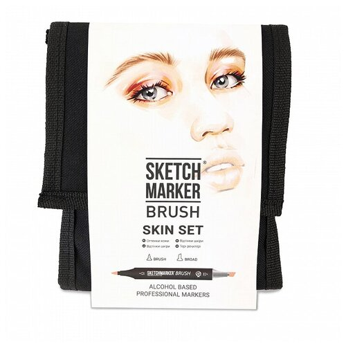 Фото - SketchMarker Набор маркеров Brush Skin Set, 12 шт. sketchmarker набор маркеров brush oriental style set 48 шт