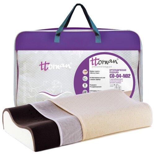 Подушка ортопедическая с эффектом памяти Ttoman CO-04-NO.2(14/12), цвет Бежевый