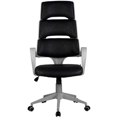 Компьютерное кресло Рива Sakura офисное, обивка: текстиль, цвет: черный/серый компьютерное кресло рива 8074 офисное обивка текстиль искусственная кожа цвет оранжевый