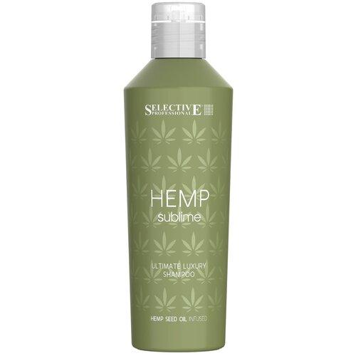 Купить Selective Professional шампунь увлажняющий Hemp Sublime для сухих и поврежденных волос с маслом семян конопли, 250 мл