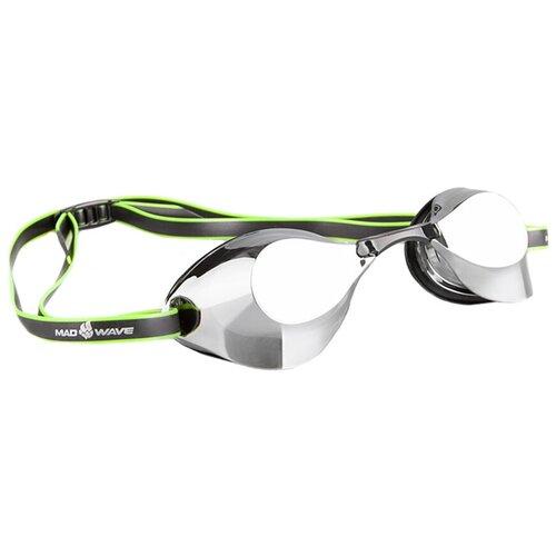 Очки для плавания MAD WAVE Turbo Racer II Mirror, черный очки для плавания mad wave turbo racer ii black orange