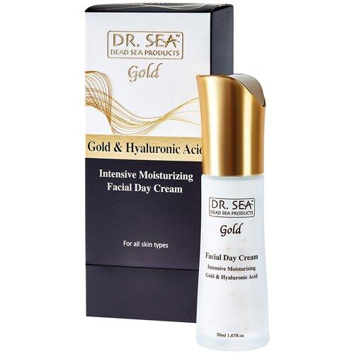 Купить Dr. Sea Gold & Hyaluronic Acid Глубокоувлажняющий регенерирующий крем для лица с коллоидным золотом и гиалуроновой кислотой, 50 мл