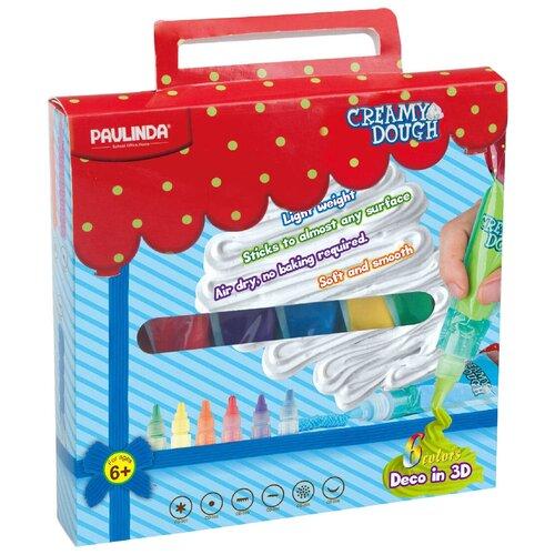 Купить Масса для лепки PAULINDA 3D моделирование 6 цветов (160002), Пластилин и масса для лепки