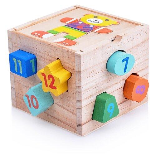 Сортер Щепочка Куб Медвежонок (D0004) сортер red box активный куб
