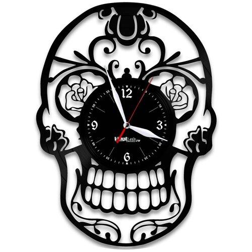 Часы из виниловой пластинки (c) VinylLab Череп
