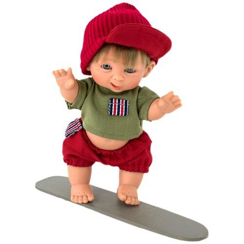 Пупс Lamagik Супер-мальчик в красных шортах и шапке, 18 см, 401
