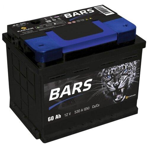 Автомобильный аккумулятор BARS 6СТ-60 АПЗ о.п.