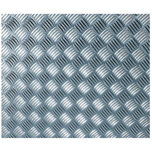 0060-340 D-C-fix 0.45х1.5м Пленка самоклеящаяся Рифленый металл высокоглянец серебро