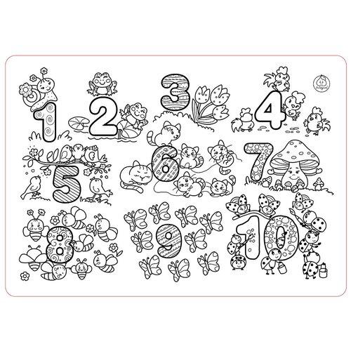 Купить ЯиГрушка Коврик-раскраска Цифры (большой), Раскраски