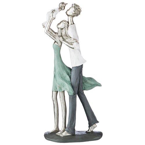 Фото - Статуэтка Lefard Фьюжн Семья, 35.5 см серебристый/зеленый/белый статуэтка lefard пастель 48 см белый зеленый