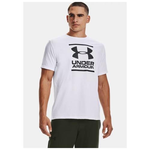 Футболка Under Armour размер SM, 100 white/black бейсболка under armour размер s m white black