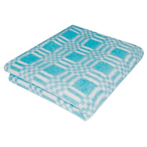 Бирюзовое Комбинированная летка 5772В 205х140 75% х/б +25% ПАН Байковое Ермолино одеяло