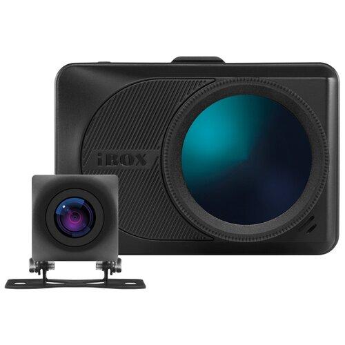 Видеорегистратор iBOX Magnetic WiFi GPS Dual + RearCam FHD10 1080P, 2 камеры, GPS, ГЛОНАСС, черный видеорегистратор с радар детектором ibox range laservision wifi signature dual 2 камеры gps глонасс черный