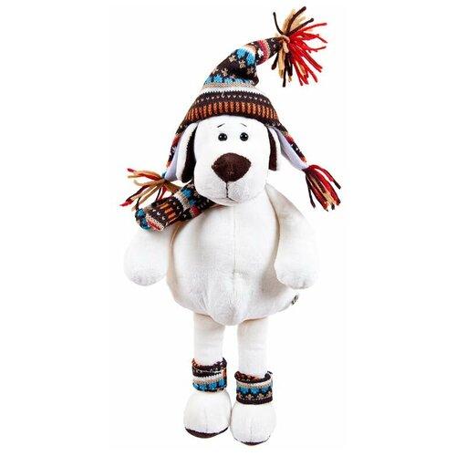 Мягкая игрушка Собака в шапке, 24см