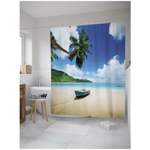 Фото - Штора для ванной JoyArty Заплыв на остров 180х200 (sc-8974) штора для ванной joyarty подарки для семьи 180х200 sc 78656