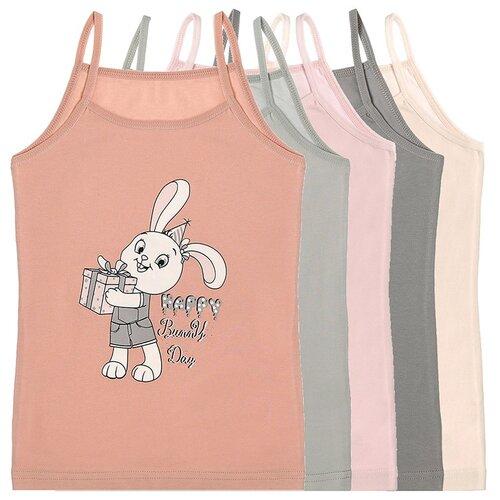 Купить Майка для девочек 4371BT, Цвет: Микс, Размер: 6/7, 5шт. в упаковке, Donella, Белье и купальники