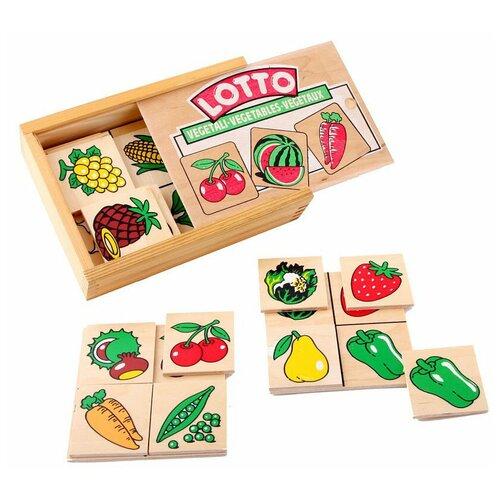 Настольная игра ЛЭМ Лото Овощи, фрукты, ягоды настольная игра smiledecor сумка игралка овощи фрукты и ягоды