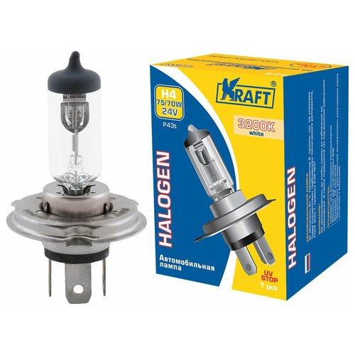 Лампа автомобильная галогенная KRAFT H4 24v 75/70w (P43t) KT 700012 1 шт. лампа автомобильная светодиодная kraft p21w 12 24v 1 5w kt 700063 1 шт