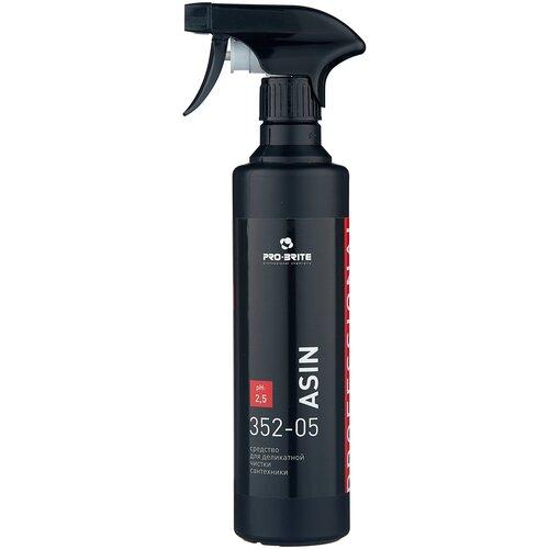 Фото - Pro-Brite спрей для деликатной чистки сантехники Asin, 0.5 л pro brite гель для сантехники active shine bleach cleaner цветочная свежесть 0 75 л