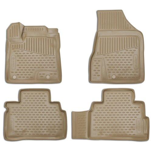 for nissan teana j33 2014 2019 floor mats into saloon 4 pcs set element carnis00042 Комплект ковриков салона ELEMENT NLC.36.23.212k для Nissan Teana 4 шт. бежевый