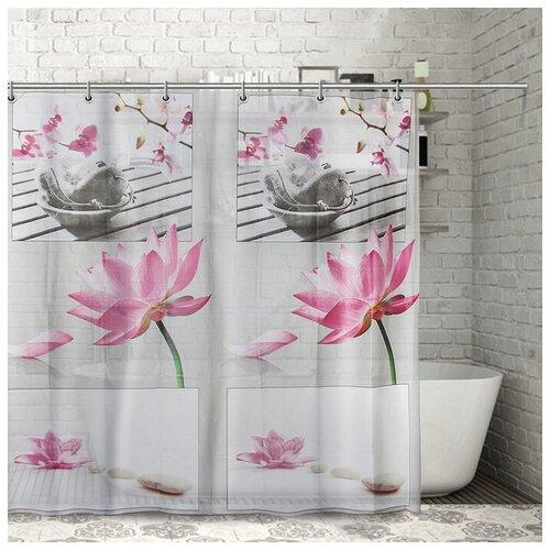 Штора для ванной Доляна Медитация 180x180 медитация штора для ванной доляна малевич 180x180 малевич