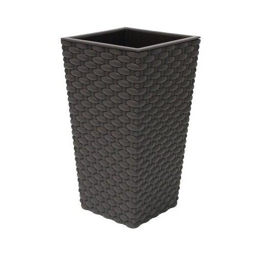 Кашпо IDEA (М-Пластика) Ротанг 26 х 26 х 45.7 см коричневый по цене 1 649