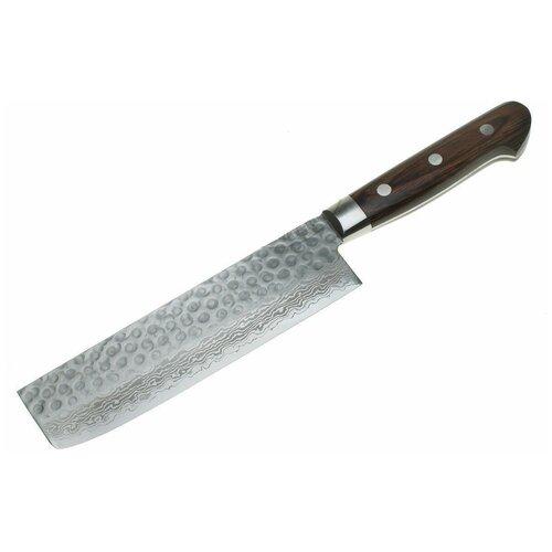 Нож кухонный Накири 07223 Sakai Takayuki (сталь Damascus 17 слоев, VG-10), 163 мм нож g sakai gs 10848 сталь 440
