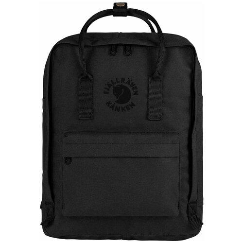Фото - Городской рюкзак Fjallraven Re-Kånken 16, черный рюкзак fjallraven kånken no 2 laptop 15 black edition 18 черный