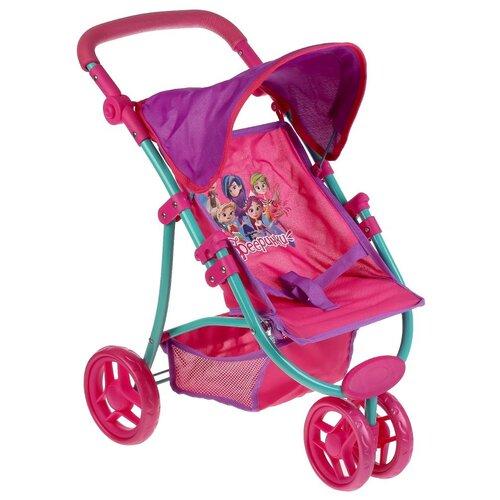Купить Коляска-книжка для кукол Карапуз Фееринки , металл, колеса 14 см, ремень, корзина, 38, 5*58, 5*52, 5 см (66HB-FAIRY), Коляски для кукол