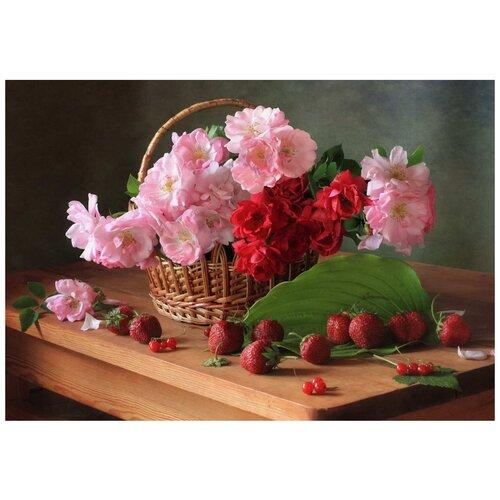 рыжий кот картина по номерам сиреневые и белые цветы 30x40 см х 3712 Рыжий кот Картина по номерам Цветы в корзинке 30х40 см (Х-3750)