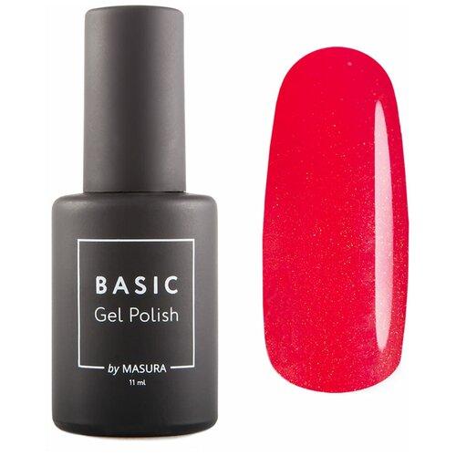 Гель-лак для ногтей Masura Basic, 11 мл, Нарядный Скарлет гель лак для ногтей masura basic 11 мл саргассово море