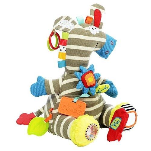 Развивающая игрушка Dolce Зебра, бело-серый развивающая игрушка dolce попугайчик бело красно голубой