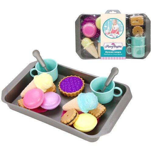 набор продуктов с посудой mary Набор продуктов с посудой Mary Poppins Французская кондитерская 453137 голубой/серый/коричневый