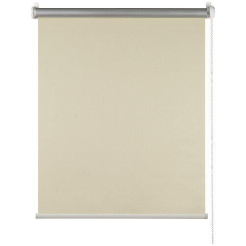 штора рулонная плайн 80х175 см кремовый Рулонная штора mini blackout ПраймДекор светоотражающий Плайн, кремовый , 115х170