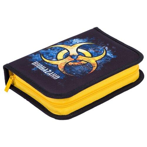 Купить Berlingo Пенал Danger (PK06059) синий/желтый, Пеналы