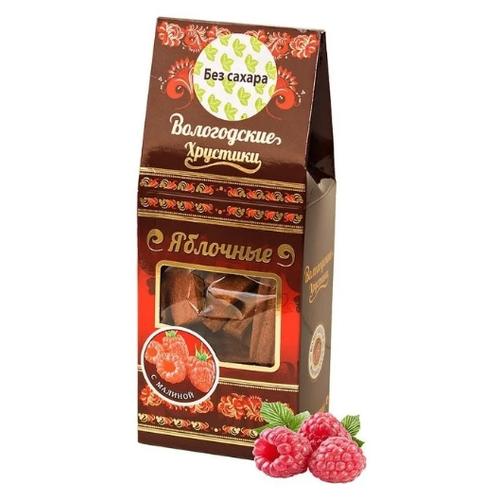 Пастила Вологодская мануфактура Хрустики яблочные с малиной без сахара, 2 шт. по 60 г