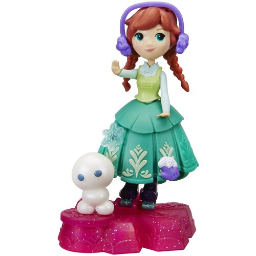 Кукла Hasbro Холодное сердце Анна на платформе-снежинке, 7.5 см, B9874