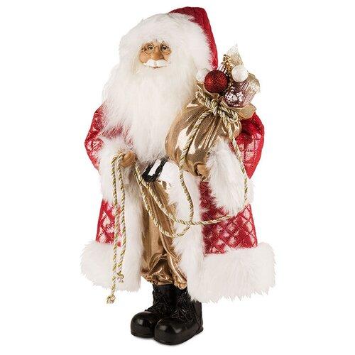 Фигурка Maxitoys Дед Мороз в красной шубе с мешком 32 см красный новогодние украшения maxitoys дед мороз в красной шубе с мешком 32 см