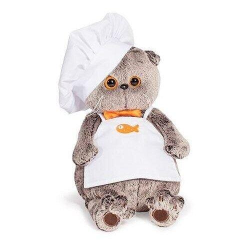 Мягкая игрушка BudiBasa Кот Басик шеф-повар (25см) (в подарочной коробке) Ks25-021, (ООО