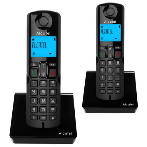 Радиотелефон Alcatel S230 Duo черный
