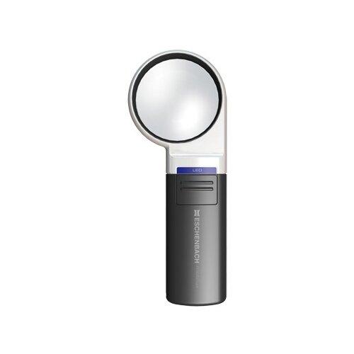 Фото - Лупа на ручке асферическая Eschenbach Mobilux LED 3x, 60 мм, с подсветкой лупа асферическая ручная с подсветкой eschenbach mobilux led диаметр 35 мм 10 0х 38 0 дптр