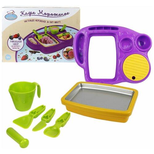Набор посуды 1 TOY Шеф-кондитер Кафе мороженое T14362 зеленый/желтый/фиолетовый