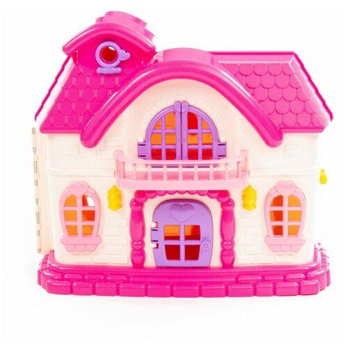 Полесье кукольный домик Сказка 78254, бежевый/розовый