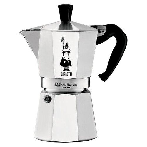 Гейзерная кофеварка Bialetti Moka Express 1165 (9 чашек), серебристый