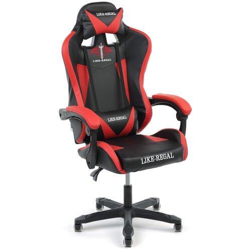Игровое кресло Экспресс офис 118, обивка: искусственная кожа, цвет: искусственная кожа черно-красная